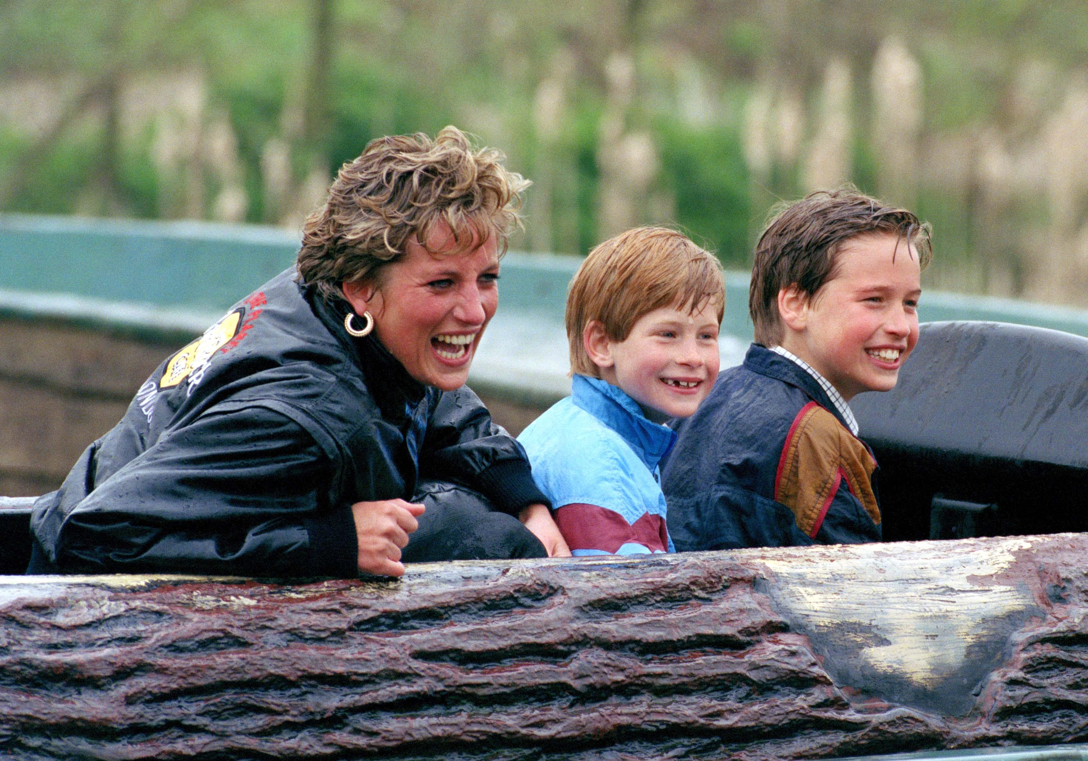 Diana, William & Harry At Thorpe Park