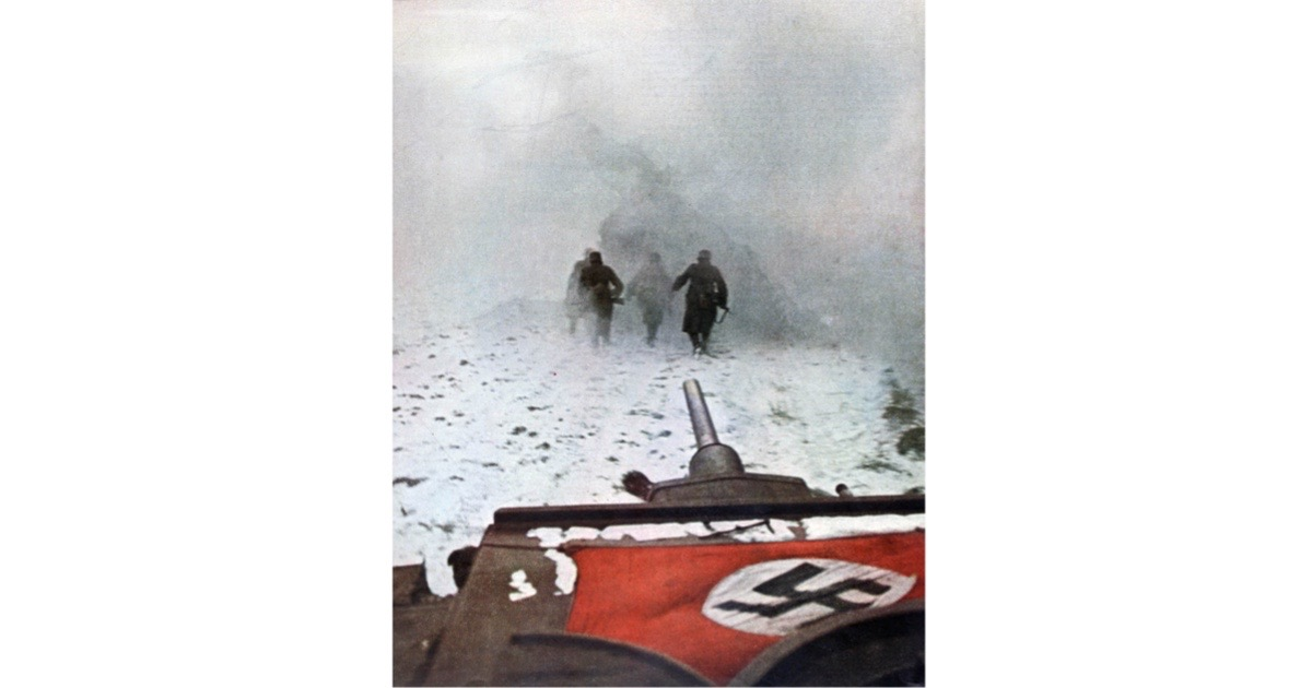 A photograph of the battle of Moscow, 1942, first printed in Signal, a magazine published by the German Third Reich from 1940 to 1945. (Photo by Art Media/Print Collector/Getty Images)