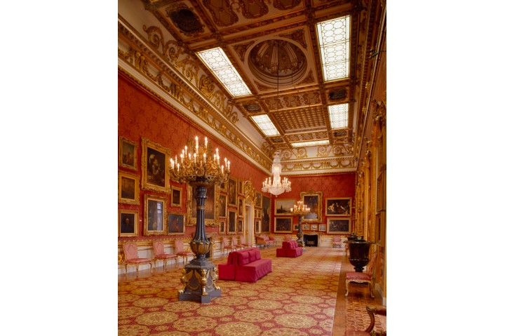 View of the Waterloo Gallery at Apsley House, London. (Photo by English Heritage/Heritage Images/Getty Images)