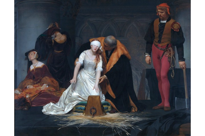 Painting by Paul Delaroche depicting the execution of Lady Jane Grey. In the National Gallery, London. (Photo by VCG Wilson/Corbis via Getty Image)