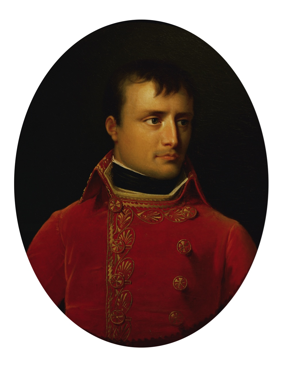 Napoleon Bonaparte (1769-1821) as First Consul of France. By Anne Louis Girodet de Roussy-Trioson. Schloss Arenenberg, Switzerland. (Photo by Imagno/Getty Images)