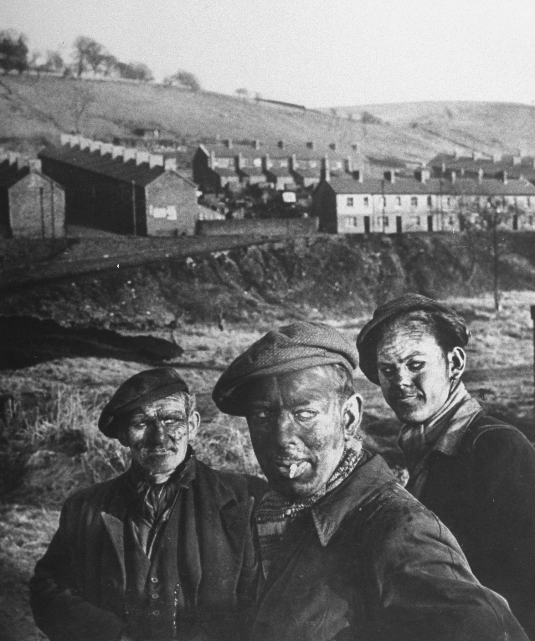 Three Welsh coal miners just up fr. the