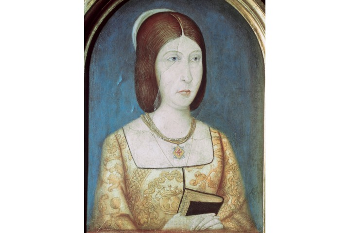 A portrait of Isabella I of Castile. (Photo by PHAS/UIG via Getty Images)