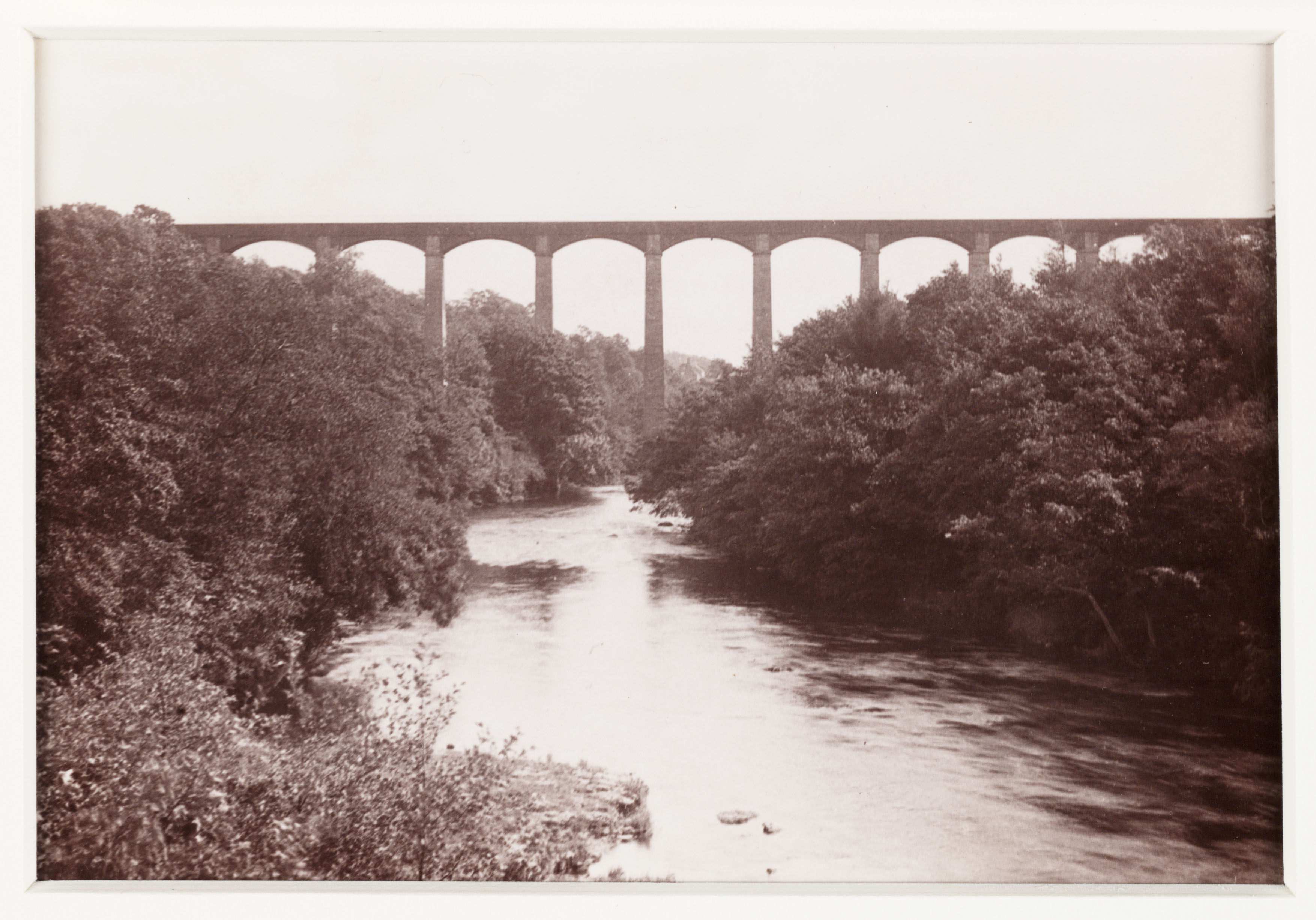 The Pontcysyllte Aqueduct, which carries the Llangollen Canal over the valley of the River Dee, near Wrexham, North Wales. The aqueduct was built by Thomas Telford. (Photo by SSPL/Getty Images)