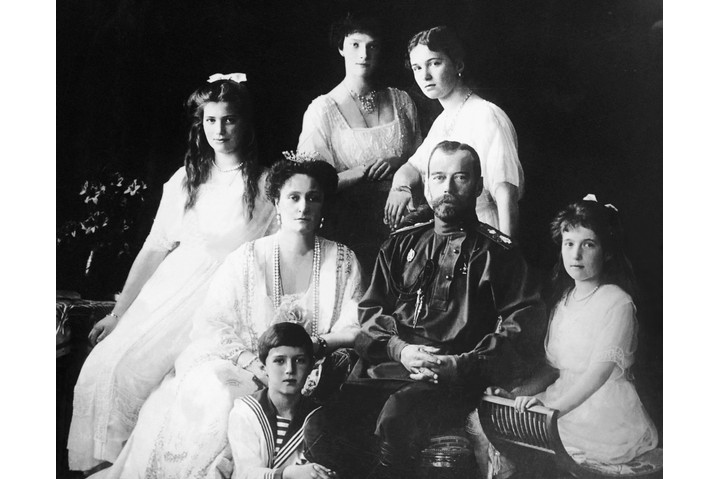 Czar Nicholas II with family. (Getty Images)