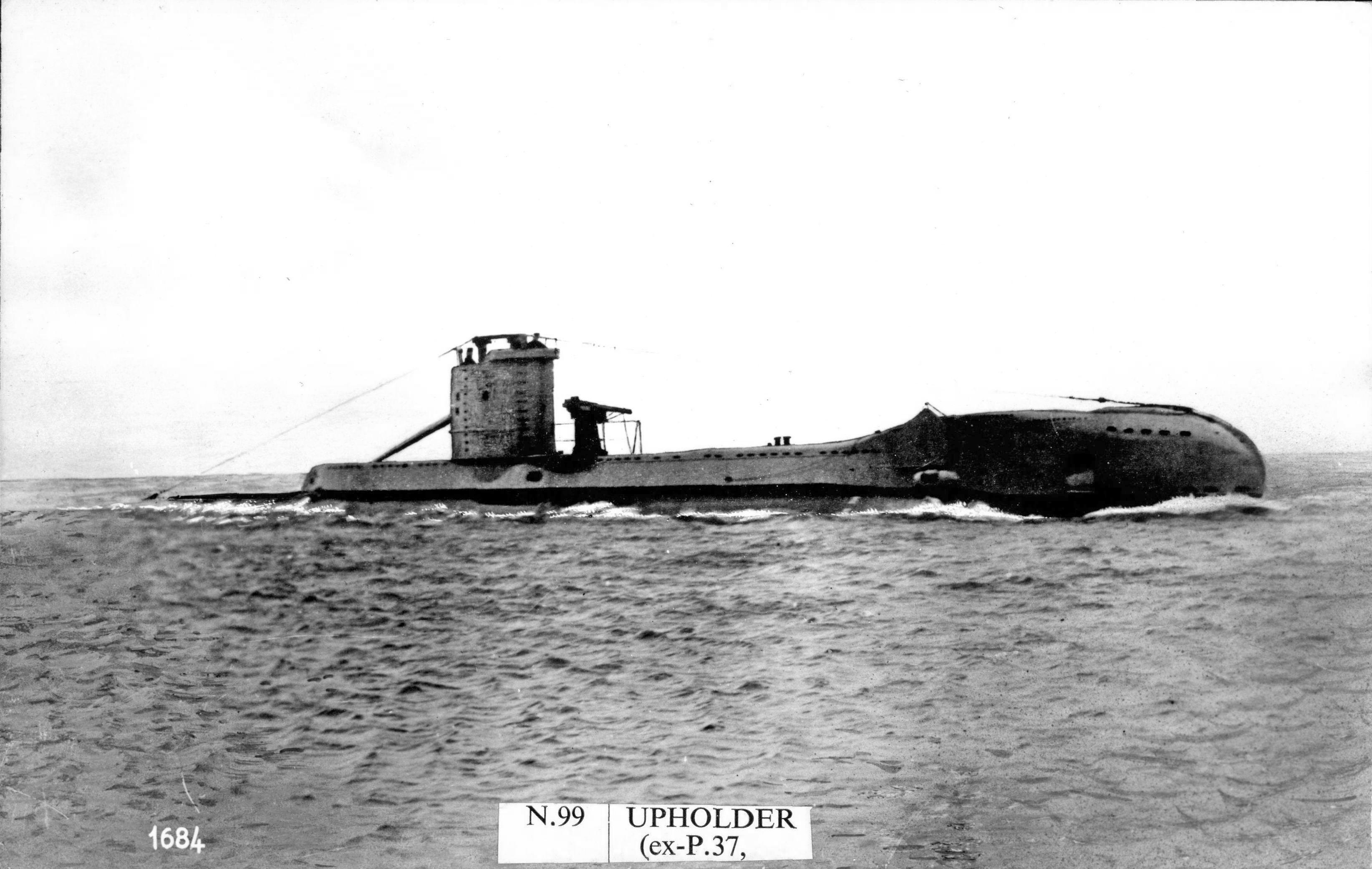 British Royal Navy Submarine HMS Upholder