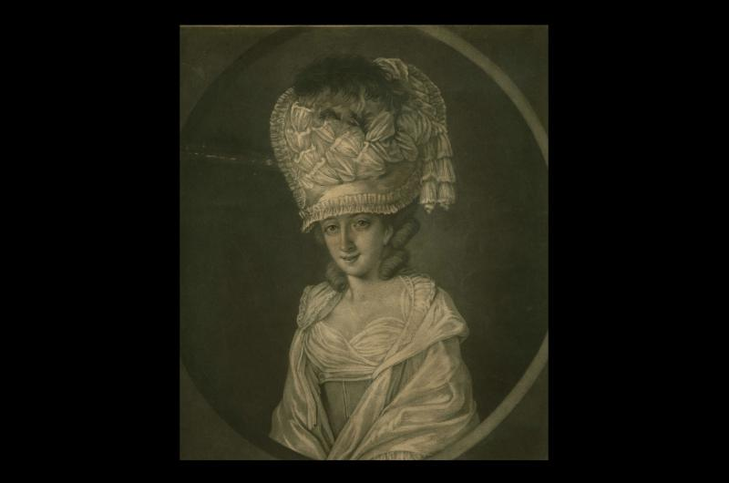 Illustration of an 18th Century lady with large hair style