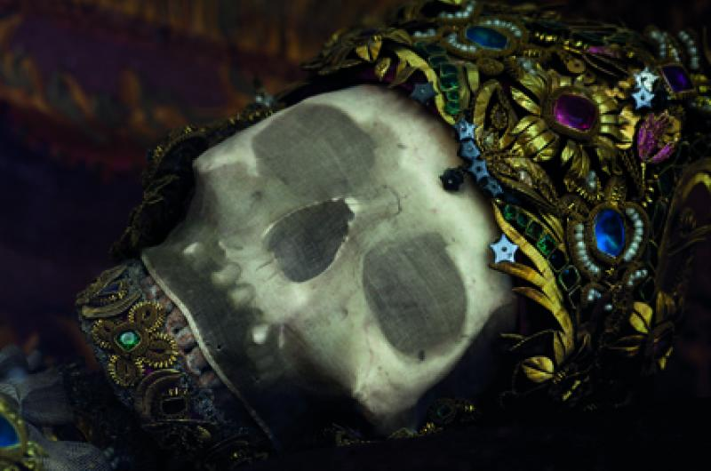 Jewelled skull of St Getreu in Ursberg