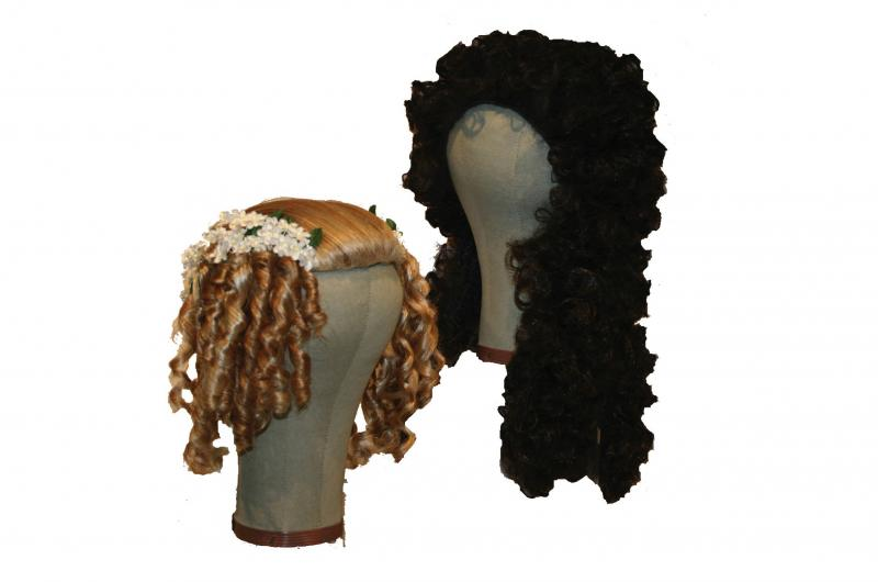 Photo of two Charles II wigs