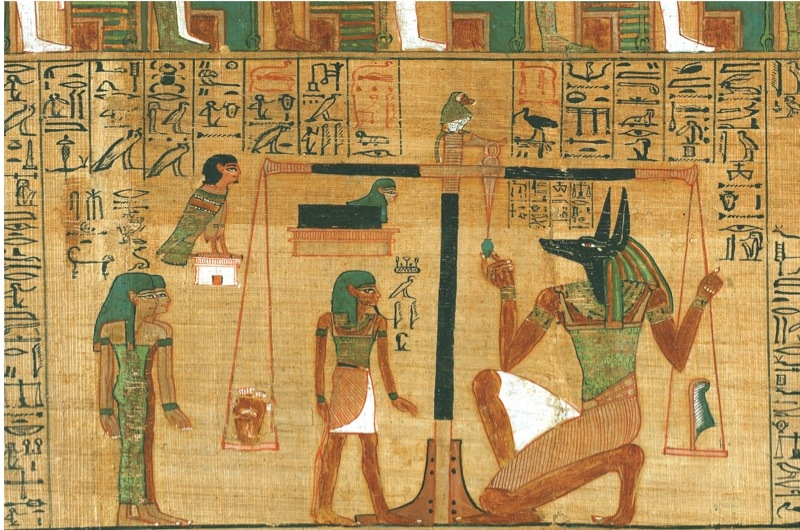 an illustration from the Book of the Dead of Ani
