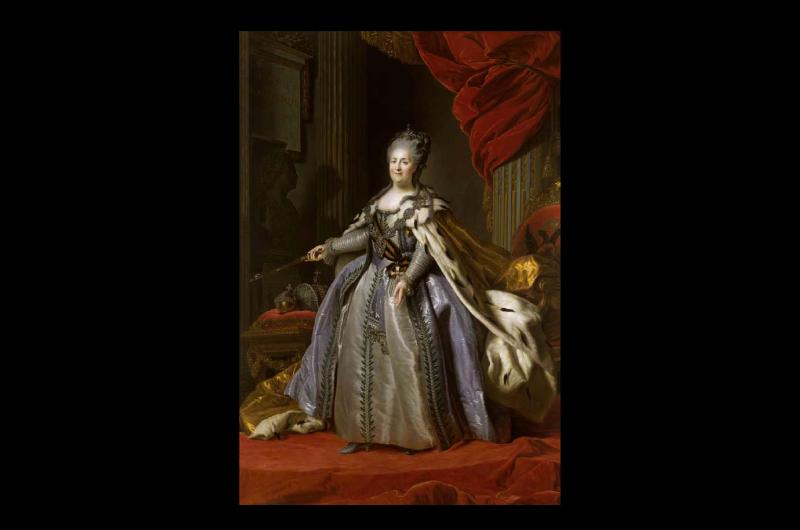 A portrait of Russian queen Catherine the Great