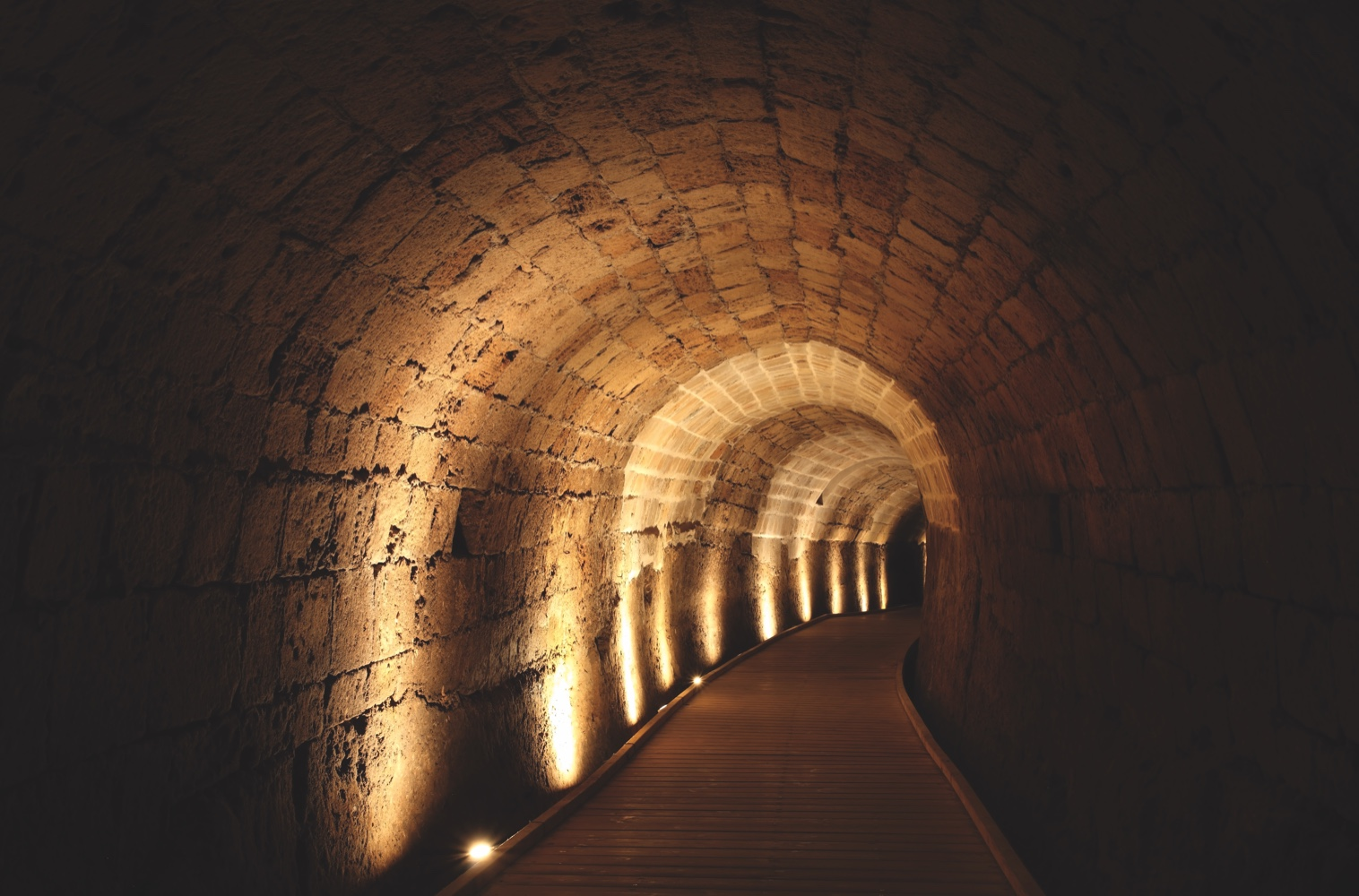 Acre knight templar tunnel, Israel; Shutterstock ID 37361170