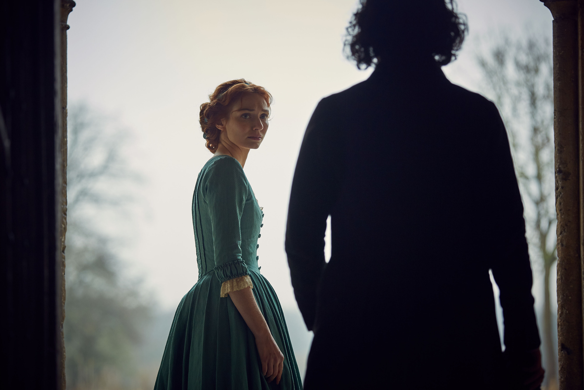 WARNING: Embargoed for publication until 00:00:01 on 18/07/2017 - Programme Name: Poldark S3 - TX: n/a - Episode: n/a (No. 7) - Picture Shows: +++PUBLICATION OF THIS IMAGE IS STRICTLY EMBARGOED UNTIL 00.01 HOURS TUESDAY JULY 28TH 2017++ Demelza ((ELEANOR TOMLINSON), Ross Poldark (AIDAN TURNER) - (C) Mammoth Screen - Photographer: Robert Viglasky