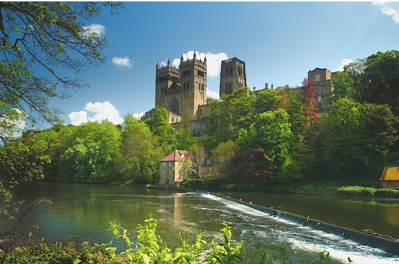"""When completed in the early 12th century, Durham Cathedral was """"absolutely up-to-the-minute in its design and near-perfect in its execution,"""" says Marc Morris. (Jim Gibson via Getty Images)"""
