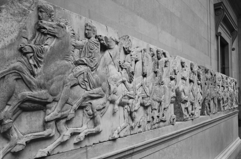 a history of the elgin marbles that are now in a museum in england The 2,500-year-old elgin marbles were taken from the parthenon in athens 200 years ago, and are still in the british museum in london greek campaigners believe the carvings should be returned to athens, and claim that they have been irreparably damaged by cleaning at the museum in the 1930s.