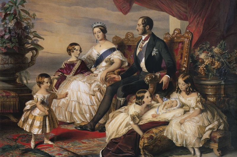 Franz Xaver Winterhalter's painting 'The Royal Family' in 1846 shows Victoria and Albert with their children (from left to right): Alfred, Edward, Alice, Helena and Vicky. Sadly, inter-family relations weren't always as blissful as this idealised portrait suggests. (Bridgeman)
