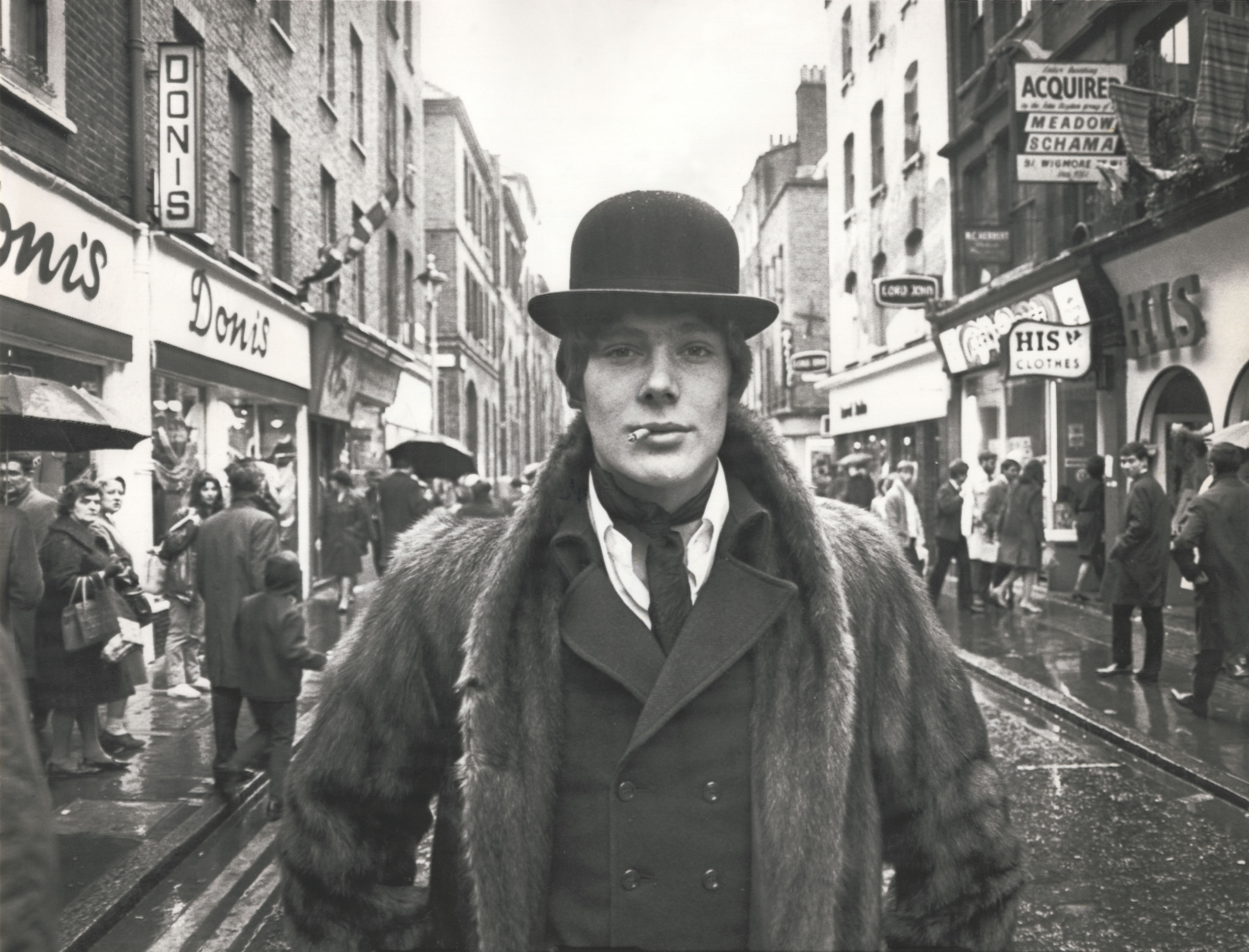 Photo of a London Dandy on Carnaby Street, London