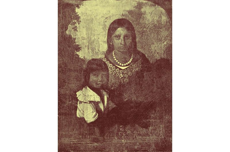 The Sedgeford Portrait, which is said to show Pocahontas and her young son, Thomas. (© Getty)