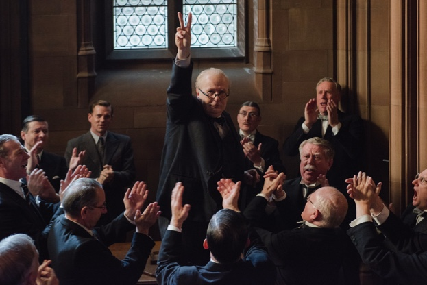 Gary Oldman portrays Winson Churchill in 'Darkest Hour