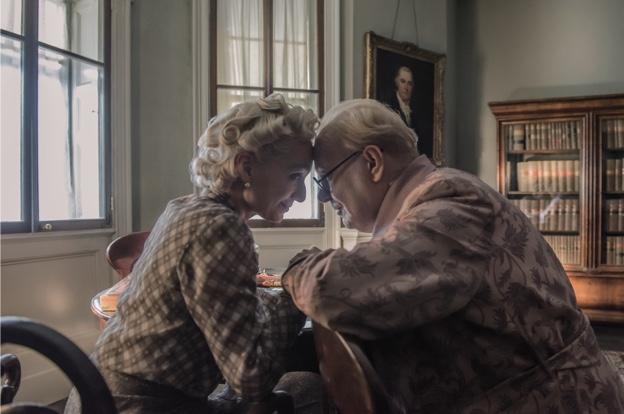 Kristin Scott Thomas portrays Clementine Churchill in 'Darkest Hour'