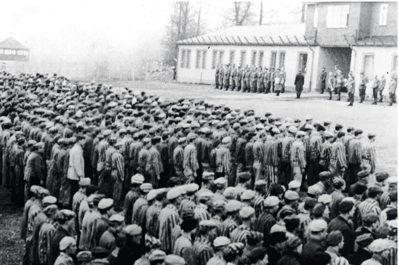Polish prisoners at Buchenwald concentration camp near Weimar, c1943. (Photo by Getty Images)