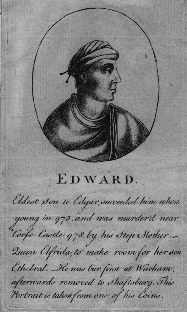 Circa 975 AD, Edward the Martyr (c 963 - 978), Anglo Saxon King of England, the elder son of King Edgar. (Photo by Hulton Archive/Getty Images)