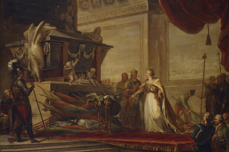 A sketch for a painting of Catherine the Great