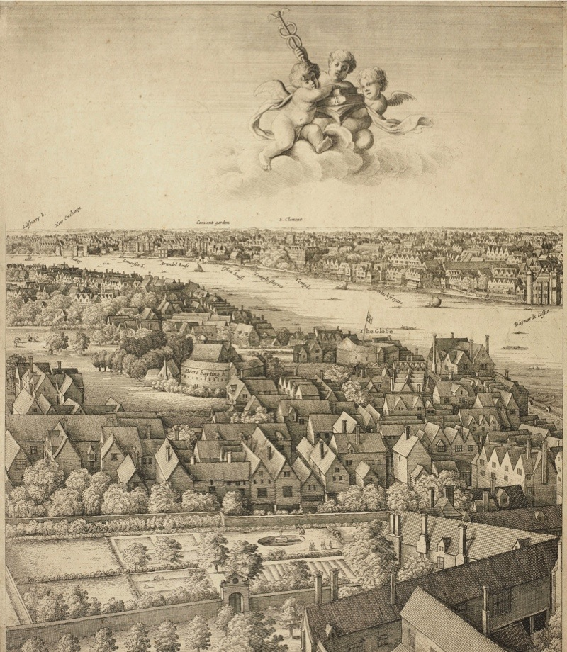 Wenceslaus Hollar, London, the 'Long View', 1647Images for use only in connection with 'Shakespeare in the Royal Library', Windsor Castle, 13 February 2016 - January 2017.Royal Collection Trust / (C) Her Majesty Queen Elizabeth II 2015.Single use only; not to be archived or passed on to third parties.