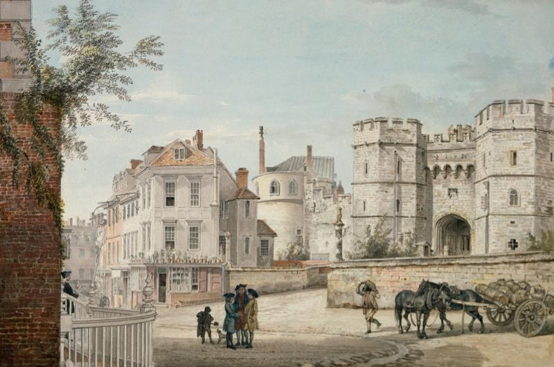 An 18th century drawing showing Windsor Castle.