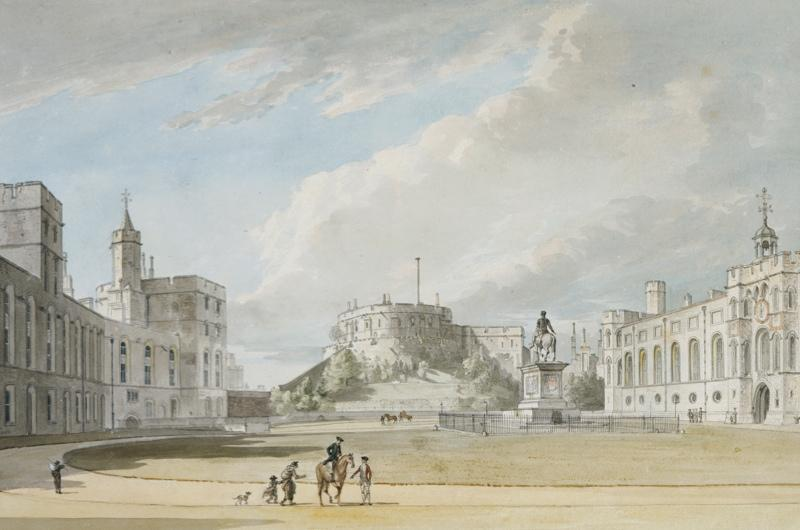 An 18th century drawing of Windsor Castle.