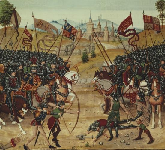 A9FFW2 Fr 2643 f 312v Battle of Najera 1367