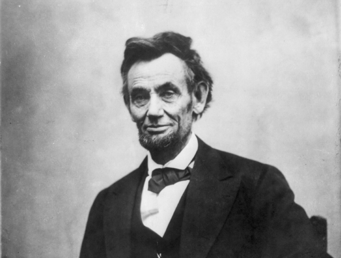 Portrait photograph of Abraham Lincoln