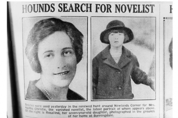 English crime writer Agatha Christie and her daughter, Rosalind