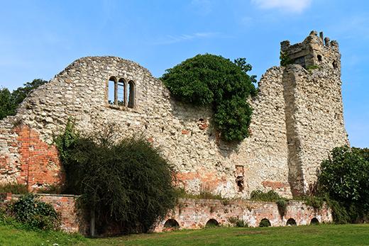 BRBM1C UK Wallingford Remains Of St. Nicholas Church
