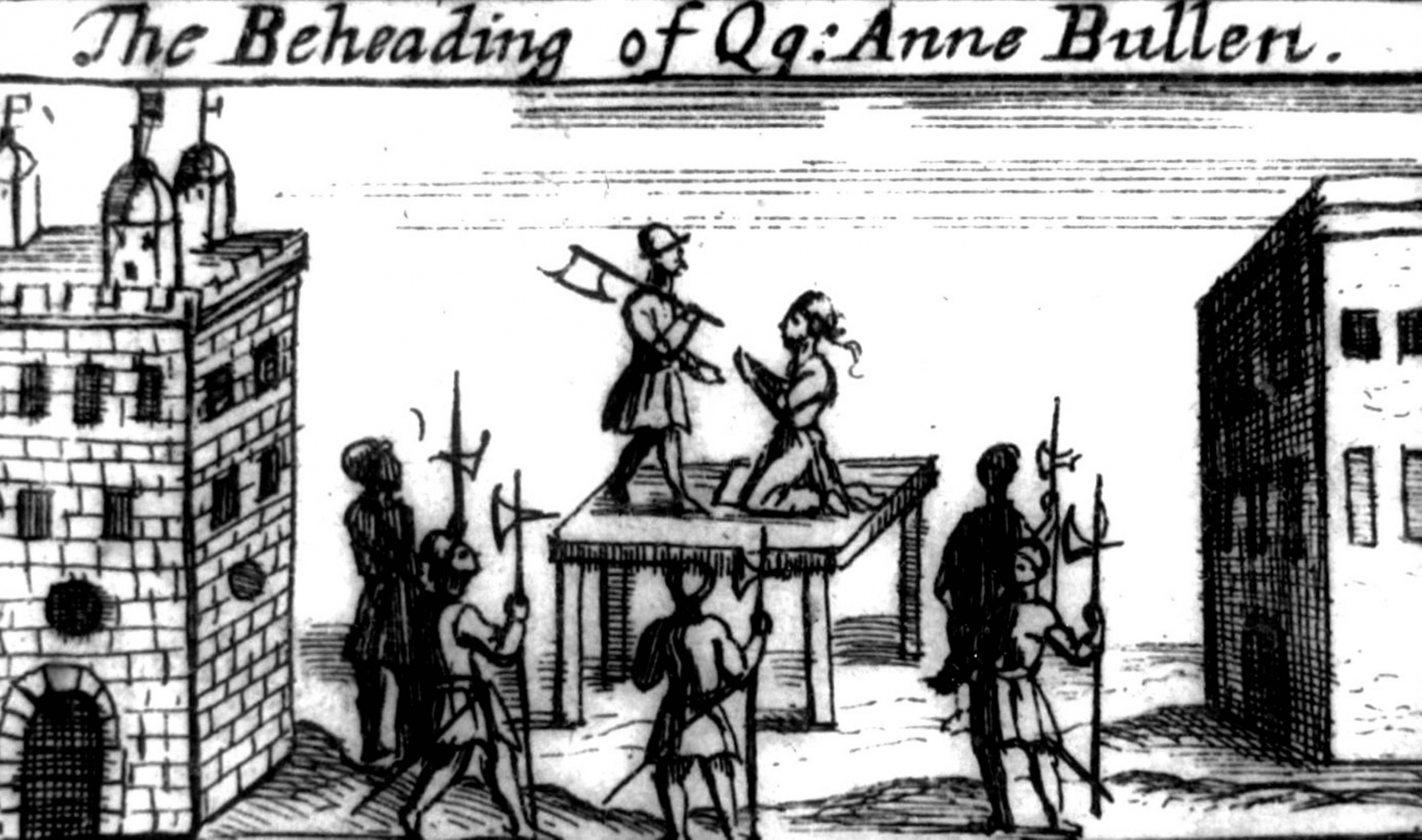 Engraving depicting the execution of Anne Boleyn at the Tower of London on 19 May 1536. (Photo by Universal History Archive/Getty Images)
