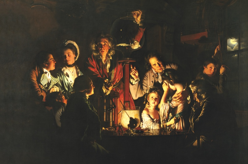 B0DT3X An Experiment on a Bird in the Air Pump by Joseph Wright of Derby, 1768 Painting.  English painter, 3 September 1734 - 29 August