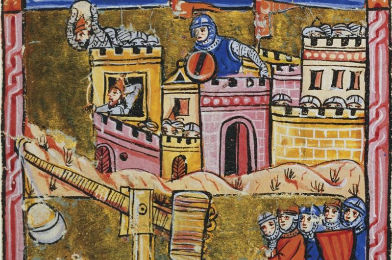 A trebuchet shown during the Siege of Antioch. (Bridgeman)