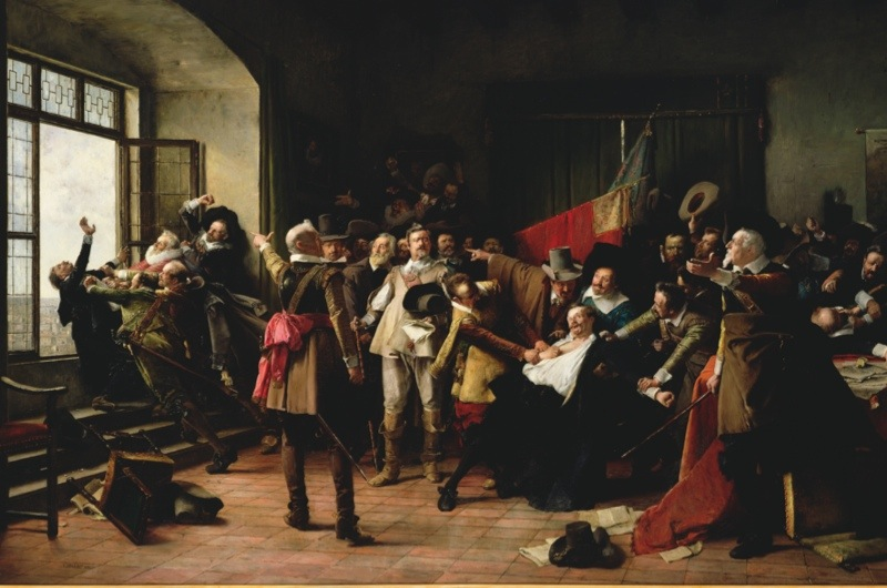 NGV123281   Credit: The Defenestration 1618 (oil on canvas) by Brozik, Vaclav (Wenzel von) (1851-1901)  National Gallery of Victoria, Melbourne, Australia/ The Bridgeman Art Library  Nationality / copyright status: Czech / out of copyright  PLEASE NOTE: The Bridgeman Art Library works with the owner of this image to clear permission. If you wish to reproduce this image, please inform us so we can clear permission for you.