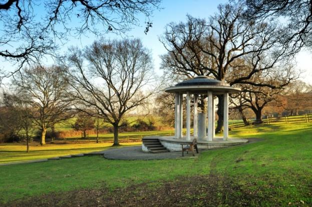 Magna Carta memorial at Runnymede. (Photo by Peter Lane/Alamy)