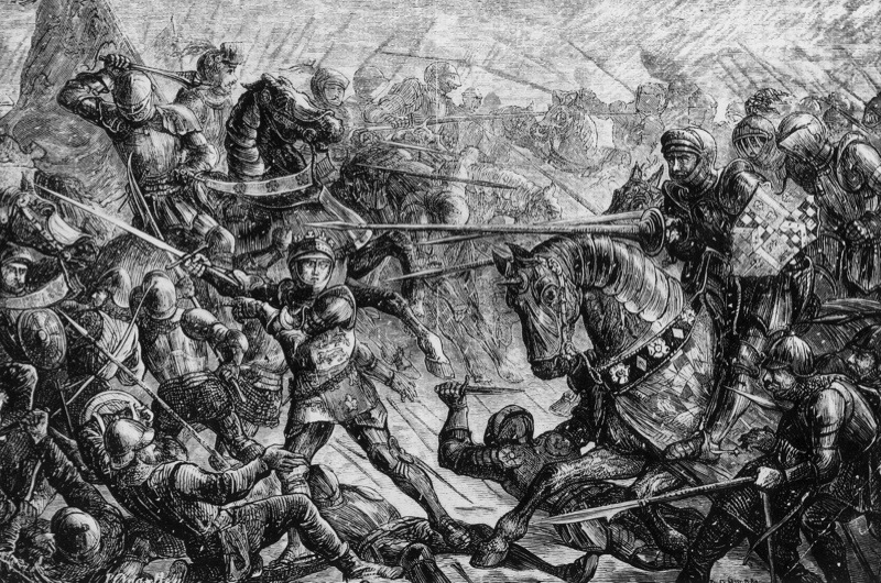 1461, The Battle of Towton during the War of the Roses. (Photo by Hulton Archive/Getty Images)