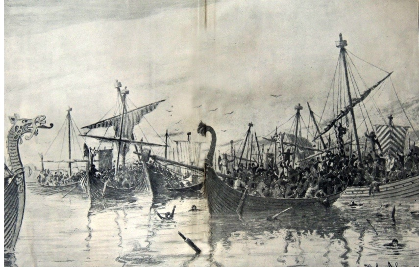 DYEHEX The Battle of Hafrsfjord. Image shot 1754. Exact date unknown.