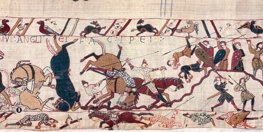 Détail Tapisserie de Bayeux (© Ville de Bayeux)