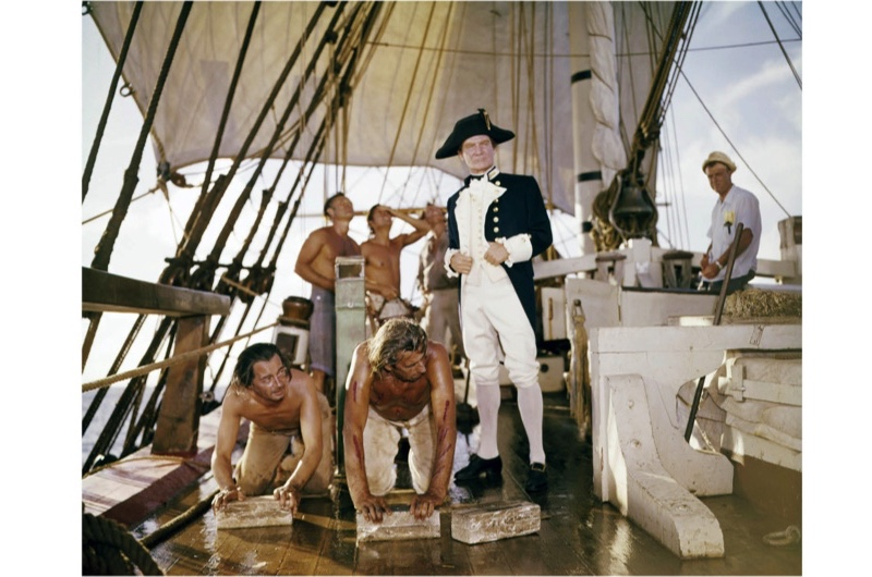 English actor Trevor Howard as Captain William Bligh on the set of 'Mutiny On The Bounty', directed by Lewis Milestone, 1962. (Photo by Silver Screen Collection/Getty Images)