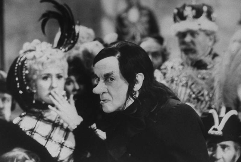 British actress Anna Quayle and Australian-born actor Sir Robert Helpmann (1909 - 1986) appear in a scene from the film 'Chitty Chitty Bang Bang,' directed by Ken Hughes, 1968. (Photo by Terence Spencer/The LIFE Picture Collection/Getty Images)