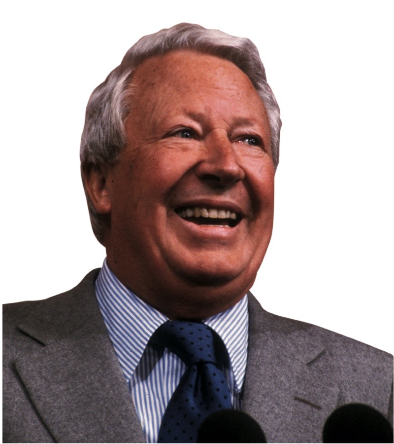 circa 1975: British Conservative politician and former Prime Minister, Edward Heath. (Photo by Hulton Archive/Getty Images)
