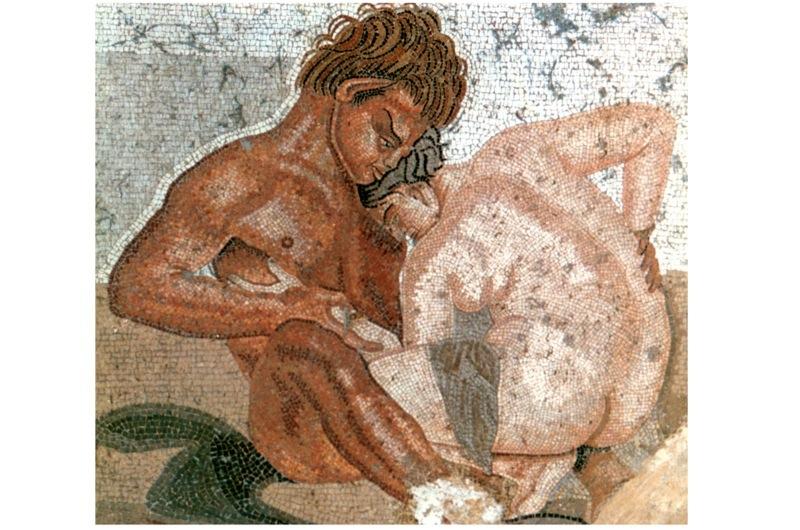 naked horny woman in panties