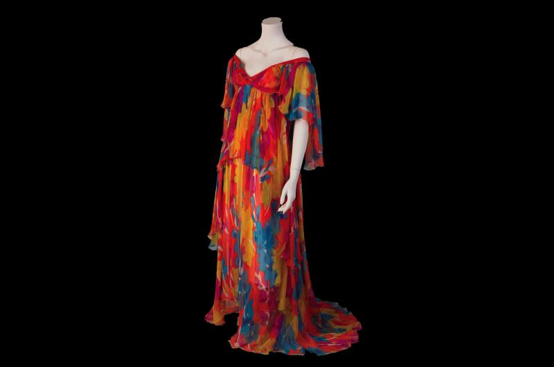 A 1970s evening dress. (© National Museums Liverpool)