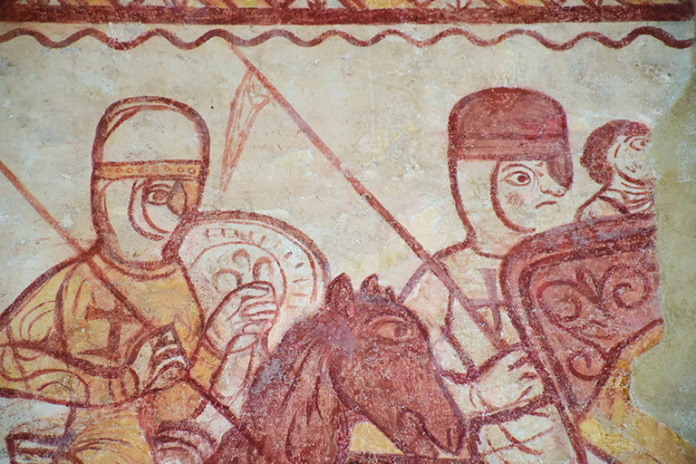 FB7ABC Mural, Cressac Templar chapel France