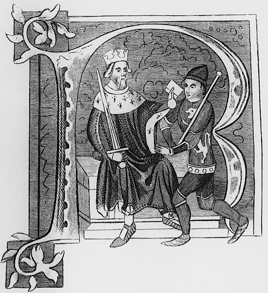 King Edward II, who was deposed by his wife, Isabella of France.
