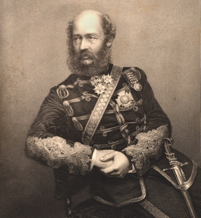 UNSPECIFIED - CIRCA 1860: George Charles Bingham, 3rd Earl of Lucan (1800-1888 English soldier. Commanded the British cavalry in the Crimean (Russo-Turkish) War 1853-1856). Directed the charge of the Heavy Brigade at the Battle of Balaclava, 1854. Engraving from The Illustrated News of the World (London, c1860). (Photo by Universal History Archive/Getty Images)